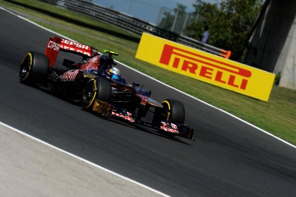 F1 2012 BUDAPEST TORO ROSSO JEAN ERIC VERGNE PIRELLI