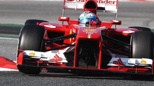 F1 2013 BARCELONE Test 21 fevrier ALONSO