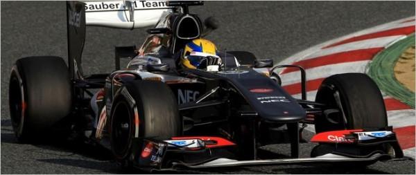 F1 2013 BARCELONE test 19 fevrier  ESTEBAN GUTIERREZ SAUBER