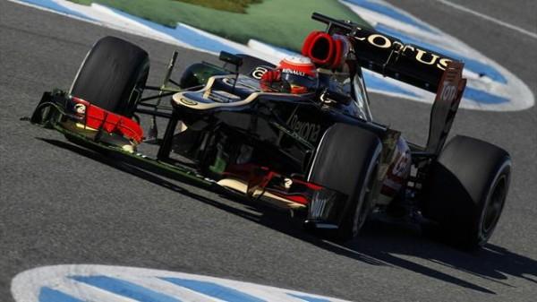 F1 2013 JEREZ Test 6 fevrier ROMAIN GROSJEAN Meilleur chrono
