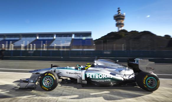 F1 2013 La nouvelle MERCEDES devoilee aux essais de JEREZ