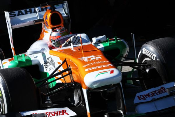F1 JEREZ 2013 TEST FORCE INDIA JULES BIANCHI 8 fevrier