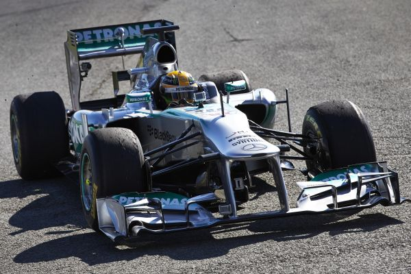 F1 JEREZ 2013 TEST MERCEDES HAMILTON 8 fevrier
