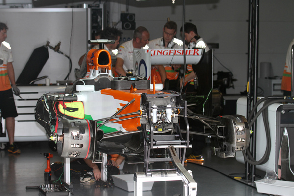 F1 MAGNY COURS 2012 test Rookie Stand FORCE INDIA Photo Gilles VITRY autonewsinfo