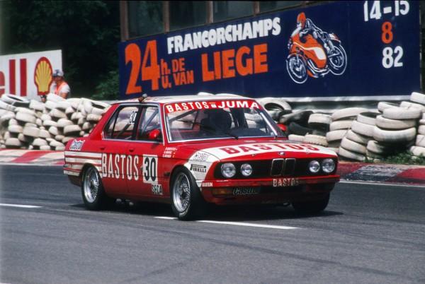 HEYER remplaçant QUESTER & JOOSEN-HAHNE-vainqueurs des 24 Heures de Spa 1982 BMW 528i-© Manfred GIET