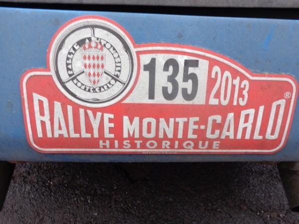 MONTE CARLO HISTORIQUE 2013 LECLERC ALPINE Plaque NUM 135 photo autonewsinfo