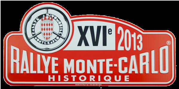 MONTE CARLO HISTORIQUE 2013 Plaque