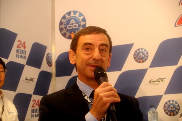 PIERRE FILLON  Conférence de presse retour MAZDA 16 Juin 2012 PHOTO Claude MOLINIER autonewsinfo