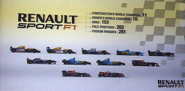 RENAULT F1 PALMARES 25 fevrier 2012