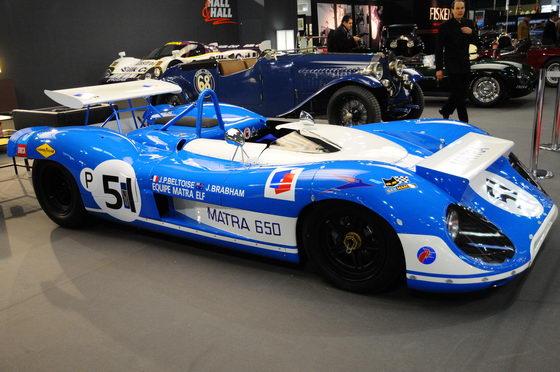 RETROMOBILE 2013 époque où Matra expérimentait des appuis sur la 650 de Brabham-Beltoise photo MARTINOLI autonewsinfo