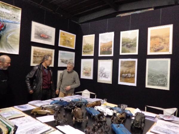 RETROMOBILE 2013 Le stand de Francois CHEVALIER artiste