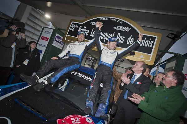 Rallye du Touquet 2012 Podium  Eric BRUNSON Autonewsinfo Adrien CLEMENT