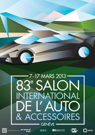 SALON DE GENEVE 2013 Affiche