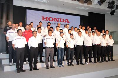 SUPER GT 500 2013 les equipages HONDA