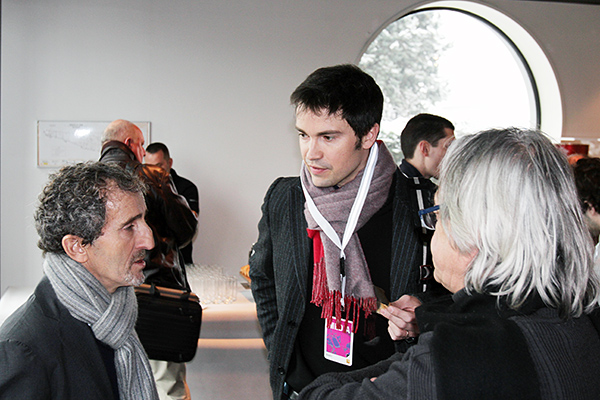 THOMAS SENECAL et ALAIN PROST 25 fevrier 2013 Usine RENAULT F1 Photo Gilles VITRY autonewsinfo