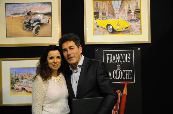 VERNISSAGE RETROMOBILE 2013 FRANCOIS DE LA CLOCHE