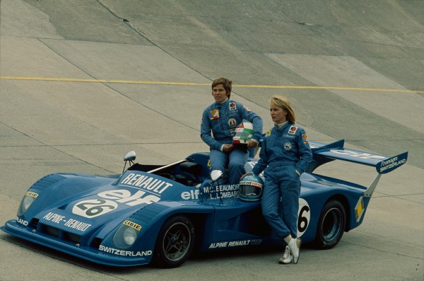 ALPINE 1976 EQUIPAGE Feminin Lella LOMBARDI Marie Claude BEAUMONT Photo BERLINETTE jean Jacques MANCEL pour autonewsinfo