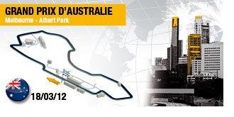 AUSTRALIE Plan circuit ALBERT PARK MELBOURNE