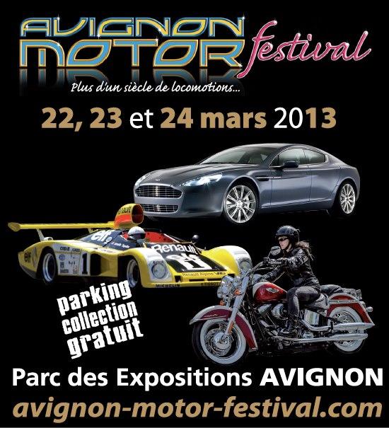 AVIGNON MOTOR FESTIVAL 2013 affiche
