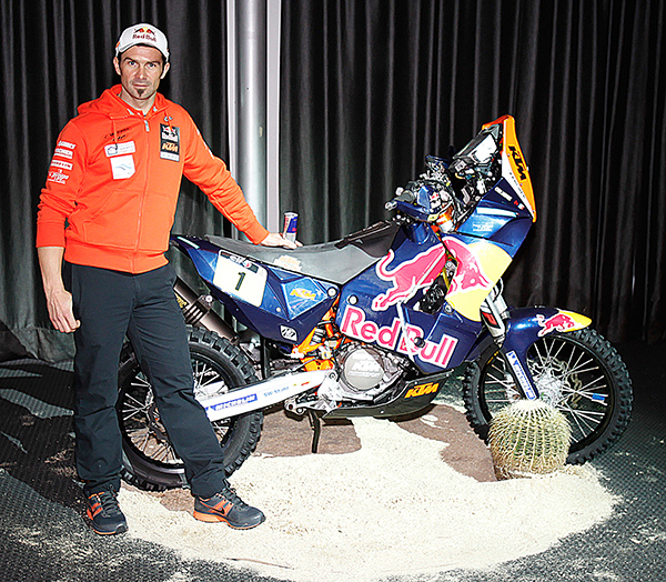 DAKAR 2012 PRESENTATION Pavillon GABRIEL PARIS 21 Nove 2012 CYRIL DESPRES ET SA KTM 450cc Photo Gilles VITRY autonewsinfo