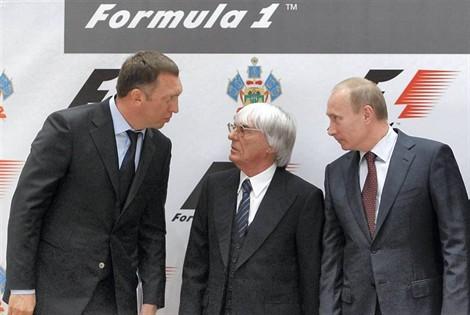 Bernie ECCLESTONE et Vladimir POUTINE-A-SOTCHI