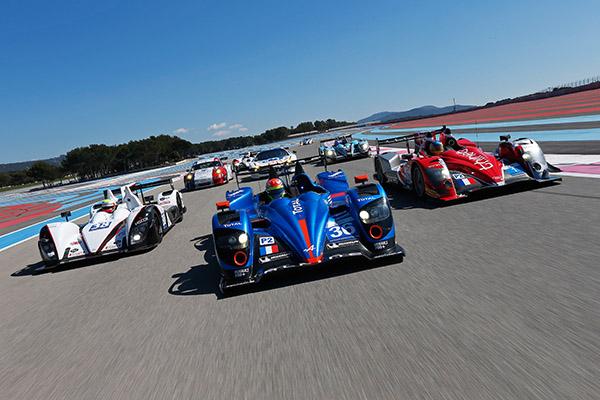 ELMS 2013 Test 26 mars circuit Paul Ricard Alpine Signatech et peloton des LMP2 Photo DPPI Le Meur pour WEC ELMS.