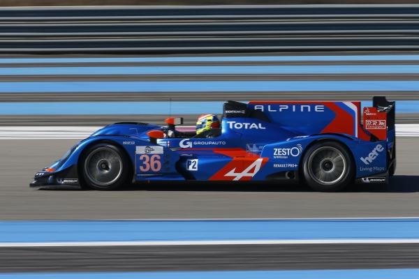 ELMS 2013 Test PAUL RICARD ALPINE SIGNATECH NUM 36 avec Nelson PANCIATICCI meilleur temps des essais 26 et 27 mars