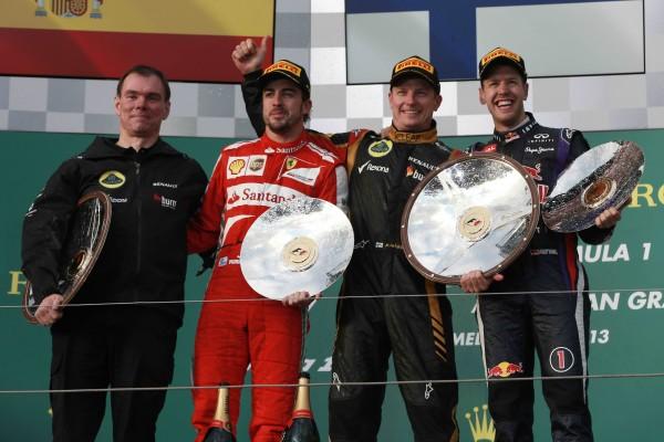 F1 2013 AUSTRALIE podium Grand-Prix MELBOURNE 17 Mars