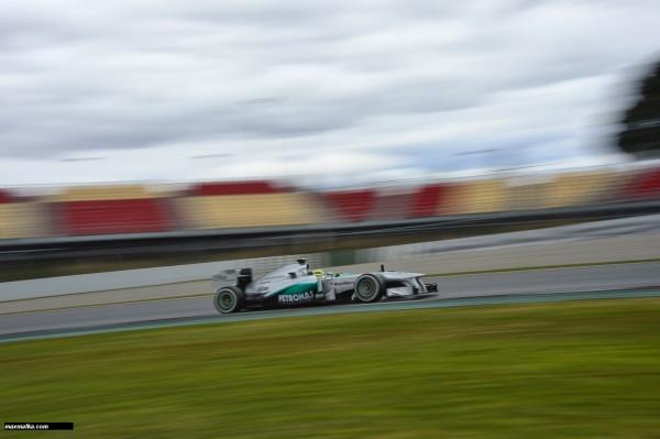 F1 2013 BARCELONE Essai du 28 fevrier au 3 mars HAMILTON  MERCEDES AMG Photo MAX MALKA
