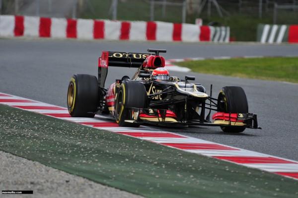 F1 2013 BARCELONE Essai du 28 fevrier au 3 mars la LOTUS RENAULT GROSJEAN Photo MAX MALKA