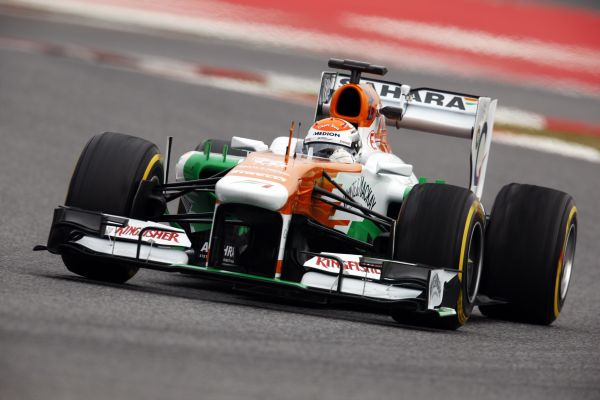 F1-2013-BARCELONE-Test-21-fevrier-ADRIAN-SUTIL-FORCE-INDIA Photo Max MALKA