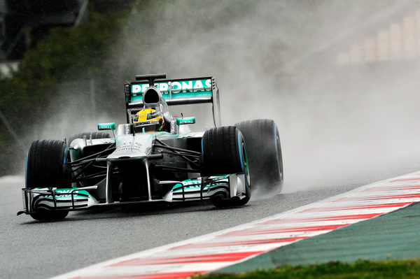 F1 2013 BARCELONE Test 3 MARS Nico Rosberg, Mercedes, P Zero Pluie, Jour 2 Photo PIRELLI