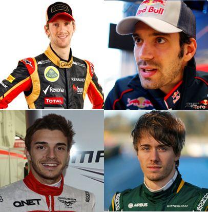 F1 2013 Les quatre pilotes Français en GP photo FFSA