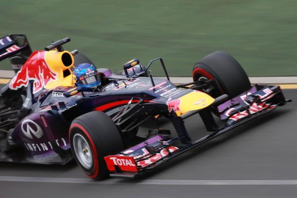 F1 2013 MELBOURNE SEB VETTEL et sa RED BULL RENAULT