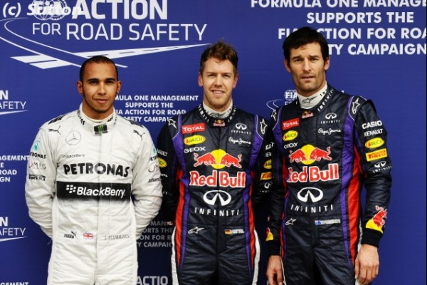 F1 2013 MELBOURNE VETTEL POLE devant WEBBER et HAMILTON