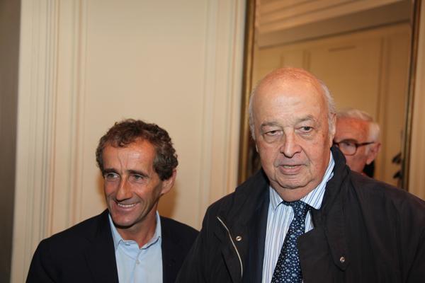 François GUITER l'homme de ELF, a l'origine du renouveau du sport automobile en France, avec Alain PROST.Photo autonewsinfo