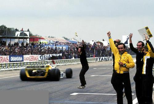 GP de France de F1 a-Dijon- Le 1er juillet 1979-victoire- de Jean Pierre Jabouille.Photo Bernard ASSET