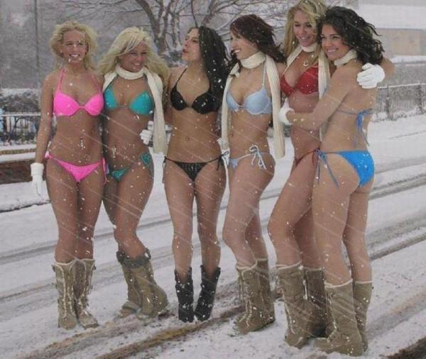 GRID GIRL sous la neige