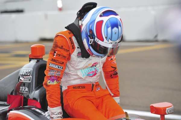 INDYCAR 2013 ST PETERSBURG ABANDON VAUTHIER Photo VISION SPORT AGENCY pour autonewsinfo