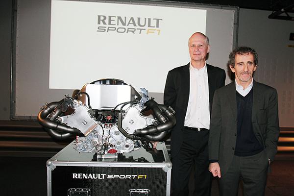 RENAULT F1 Conf Usine VIRY 25 fevrier 2013 Jean MICHEL JALINIER et Alain PROST Conf futur MOTEUR V6 RS34 photo Gilles VITRY autonewsinfo