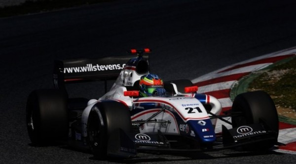 WORLD SERIES RENAULT  2013 WILL STEVENS Test MONTMELO mars
