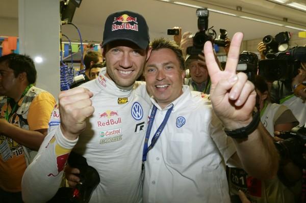 WRC 2013 MEXIQUE VW POLO OGIER et JOST CAPITO, le patron de l'équipe VW Motosport