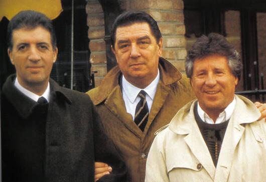 FRANCO-GOZZI-en compagnie de PIERO-LARDI-FERRARI-et de MARIO-ANDRETTI