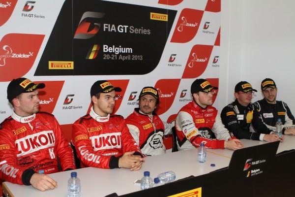 GT FIA 2013 ZOLDER Les vainqueurs de classe réunis © Manfred GIET pour autonewsinfo.