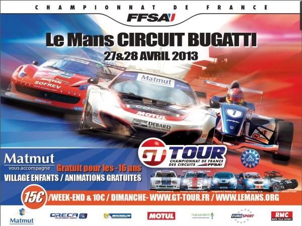 GT TOUR LE MANS 2013 affiche
