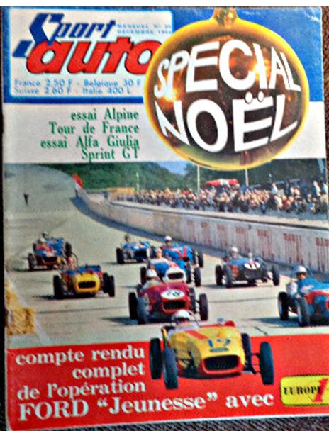 SPORT-AUTO-couverture-Decembre-1964-FORD JEUNESSE-photo-autonewsinfo