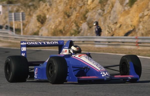 VAN ROSSEM GP du Portugal 1989-le seul podium dans l'histoire du Team ONYX MONEYTRON-© Manfred GIET