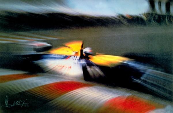 BAKALIAN-Litho-Alain-Prost-SPA-1993-Bernard-Bakalian-PAB