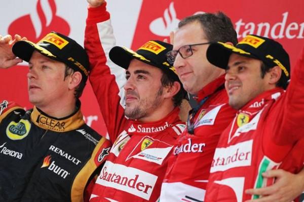 F1-2013-BARCELONE-Podium-ALONSO-1er-Kimi-2eme-et-Massa-3eme-12-mai-2013