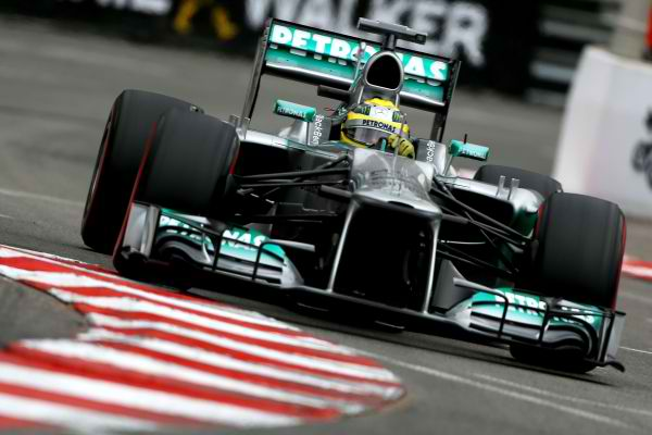 F1-2013-GP de MONACO-NICO-ROSBERG VICTORIEUX au volant de sa MERCEDES